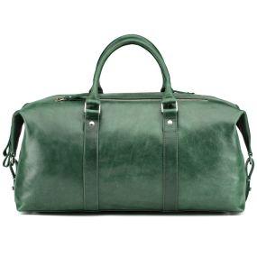 Кожаная дорожно-спортивная сумка Англия (зелёная)