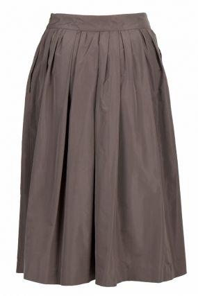 Серая пышная юбка-миди