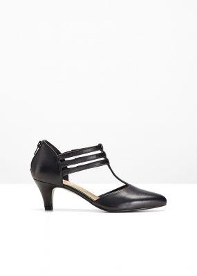 Кожаные туфли с ремешками