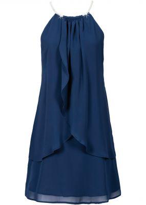 Шифоновое платье с американскими проймами