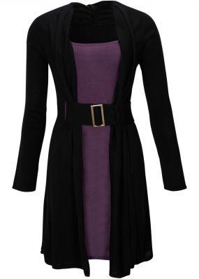 Трикотажные платье и ремень