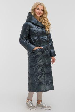 Женский длинный модный пуховик для зимы