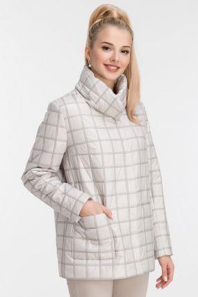 Прямая женская куртка с двойной прострочкой