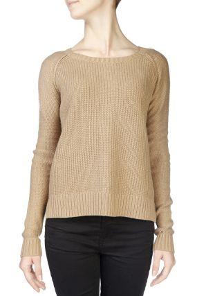 Вязаный коричневый свитер