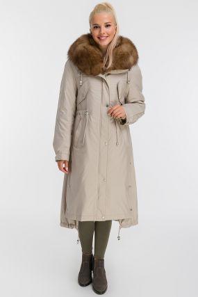 Итальянское длинное пальто на меху