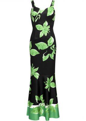 Платье макси с тропическим принтом
