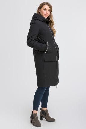Двустороннее женское пальто на осень с капюшоном