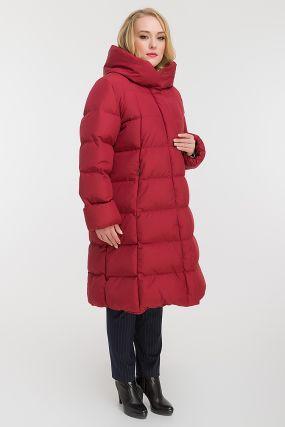 Пуховик на большой размер для зимы с капюшоном