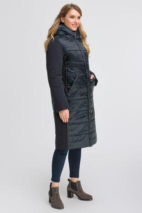 Итальянское длинное комбинированное пальто
