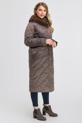 Стильное демисезонное длинное пальто на верблюжьей шерсти