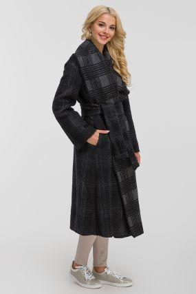Длинное итальянское пальто в клетку Teresa Tardia