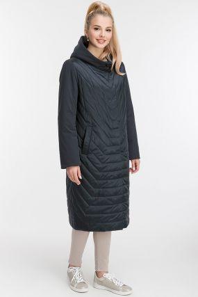 Демисезонное пальто на синтепоне с капюшоном