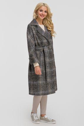 Пальто-халат из Италии с английским воротником на высокий рост