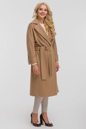 Длинное пальто реглан с английским воротником