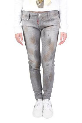 Серые джинсы с грязным эффектом