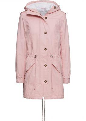 Пальто с плюшевым мехом