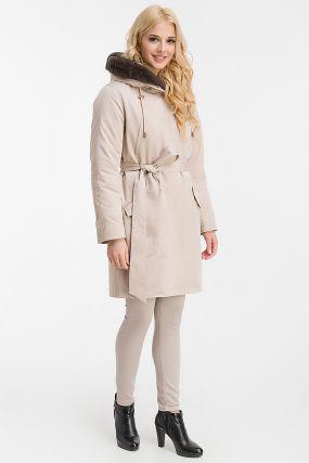 Теплое пальто на меху со съемной подстежкой