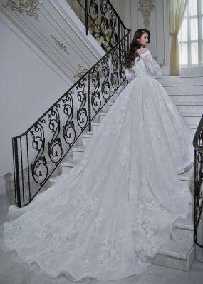 Свадебное платье с лебедями LB002