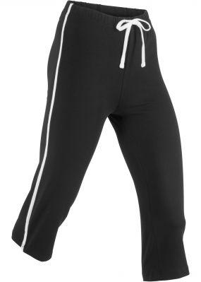 Спортивные брюки капри с эффектом стретч