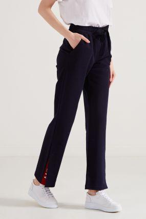 Синие брюки с эластичным поясом