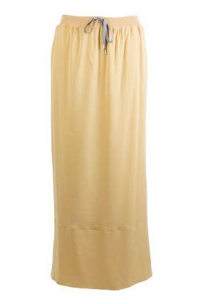 Длинная юбка песочного цвета