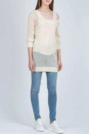 Вязаный свитер-оверсайз