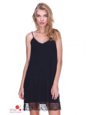 Платье Mango, цвет черный