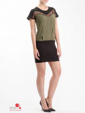 Платье Phard, цвет черный, зеленый