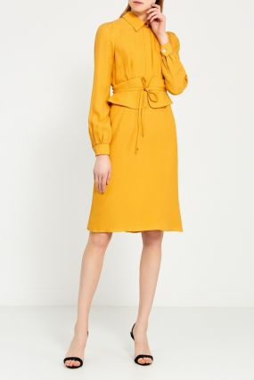 Желтое платье-блузка