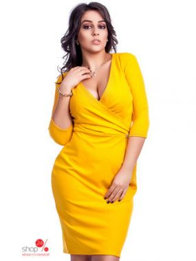 Платье Indigo, цвет горчичный