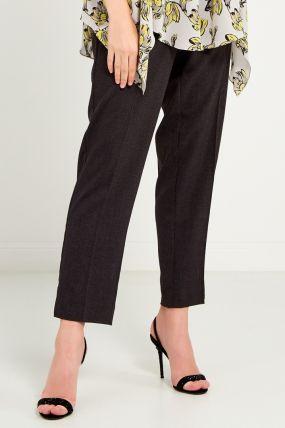 Серые брюки из бархата