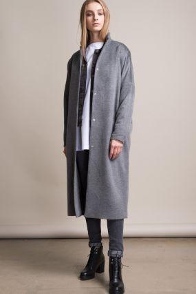 Пальто Черешня Classic из шерсти и вискозы серого цвета (40-42)