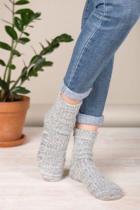 Носки BENE SOX шерстяные светло-серого цвета (36-42)
