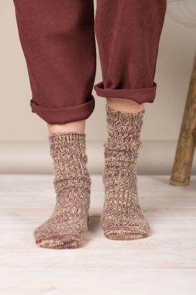 Носки BENE SOX шерстяные горчично-бордового цвета (36-42)
