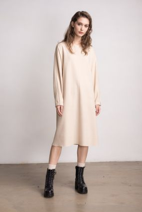 Платье шерстяное Черешня кремовый (40-46)