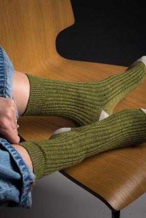 Носки STYLEHUB шерстяные травяные с серой пяткой (35-42)