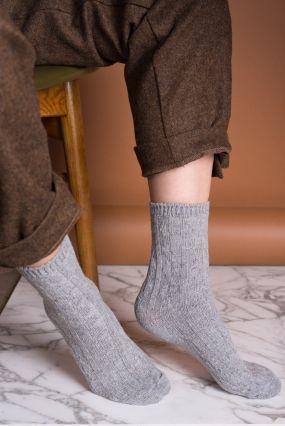 Носки TWO RAIN шерстяные с резинкой светло-серого цвета (35-42)