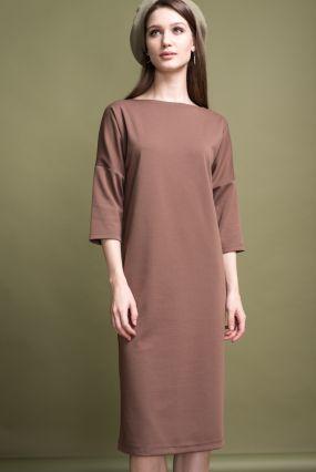 Платье MAYBE плотный трикотаж терракот (40-42)