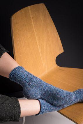Носки STYLEHUB шерстяные в крапинку синего цвета (36-42)