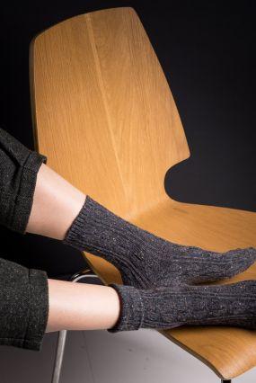 Носки STYLEHUB шерстяные в крапинку темно-серого цвета (36-42)