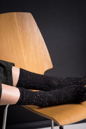 Носки STYLEHUB шерстяные в крапинку черного цвета (36-42)