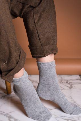 Носки TWO RAIN шерстяные светло-серого цвета (36-42)