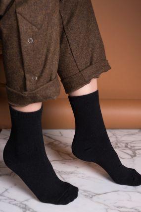 Носки TWO RAIN шерстяные черного цвета (36-42)