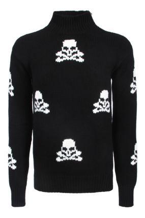 Кашемировый свитер с черепами