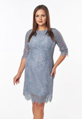 Кружевное платье миди футляр