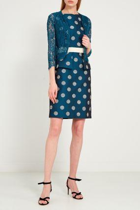 Платье с кружевным жакетом