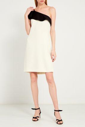 Платье с контрастным воланом