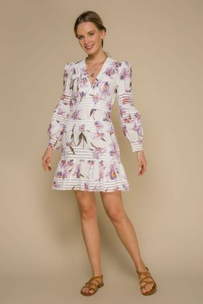 Платье 106293 White-Lilac
