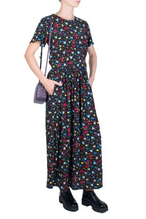 Платье-макси с цветочным принтом