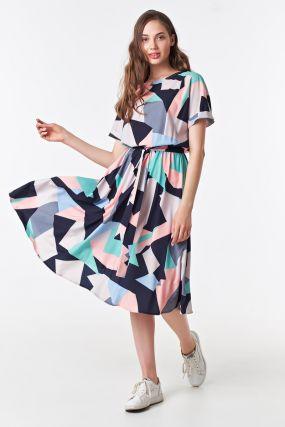 Платье миди с геометрическим принтом